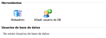 Crear usuario Base de datos Plesk 10