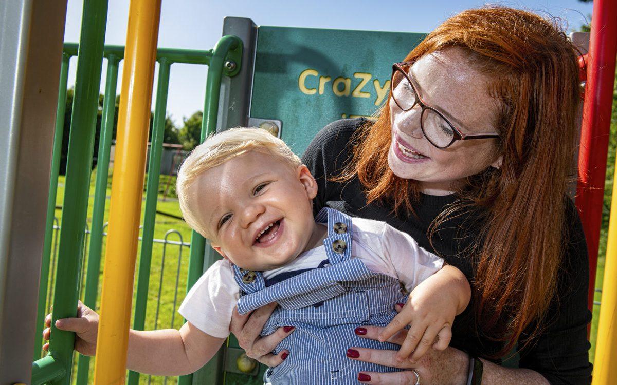 Project Breathe ayuda a Caroline Powell a obtener mejor información útil sobre su salud. Foto por Jonathan Banks.